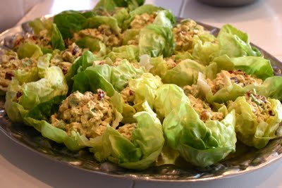 Curry Chicken Salad Lettuce Cups