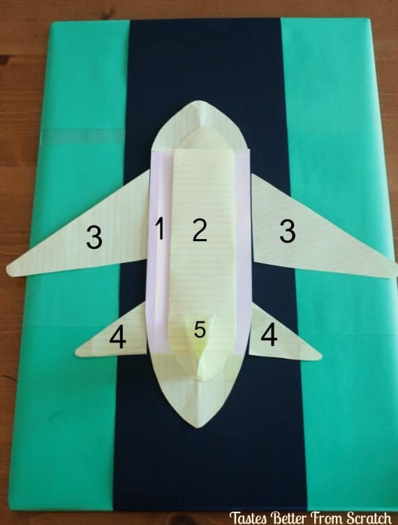 cool paper plane diagram relay wiring light bar airplane cake tutorial - tastes better from scratch