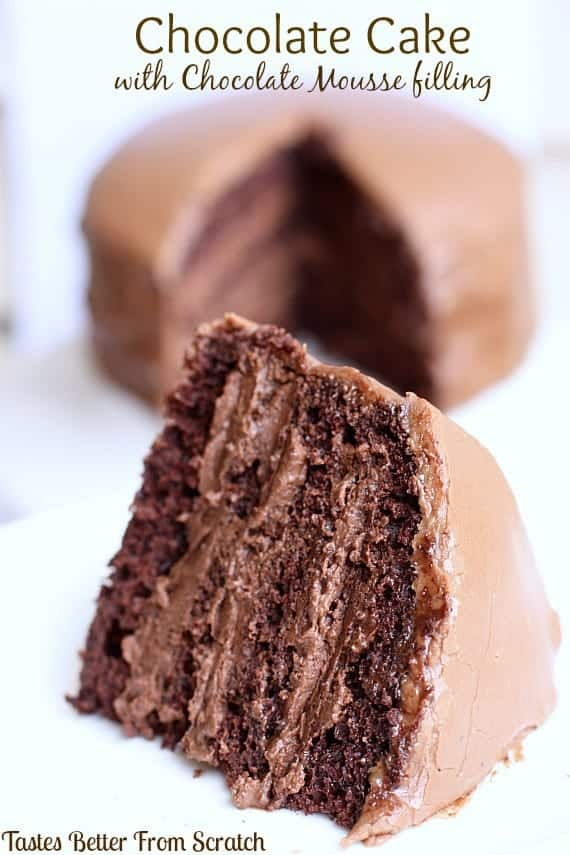 Chocolate Mud Cake With Chocolate Mousse Filling