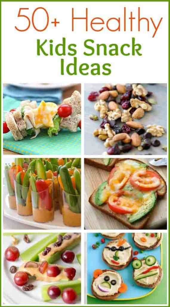 50+ Healthy Kids Snack Ideas roundup on TastesBetterFromScratch.com