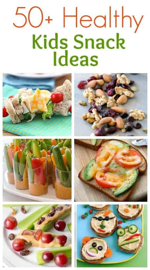 50+ Healthy Kids Snack Ideas roundup from TastesBetterFromScratch.com
