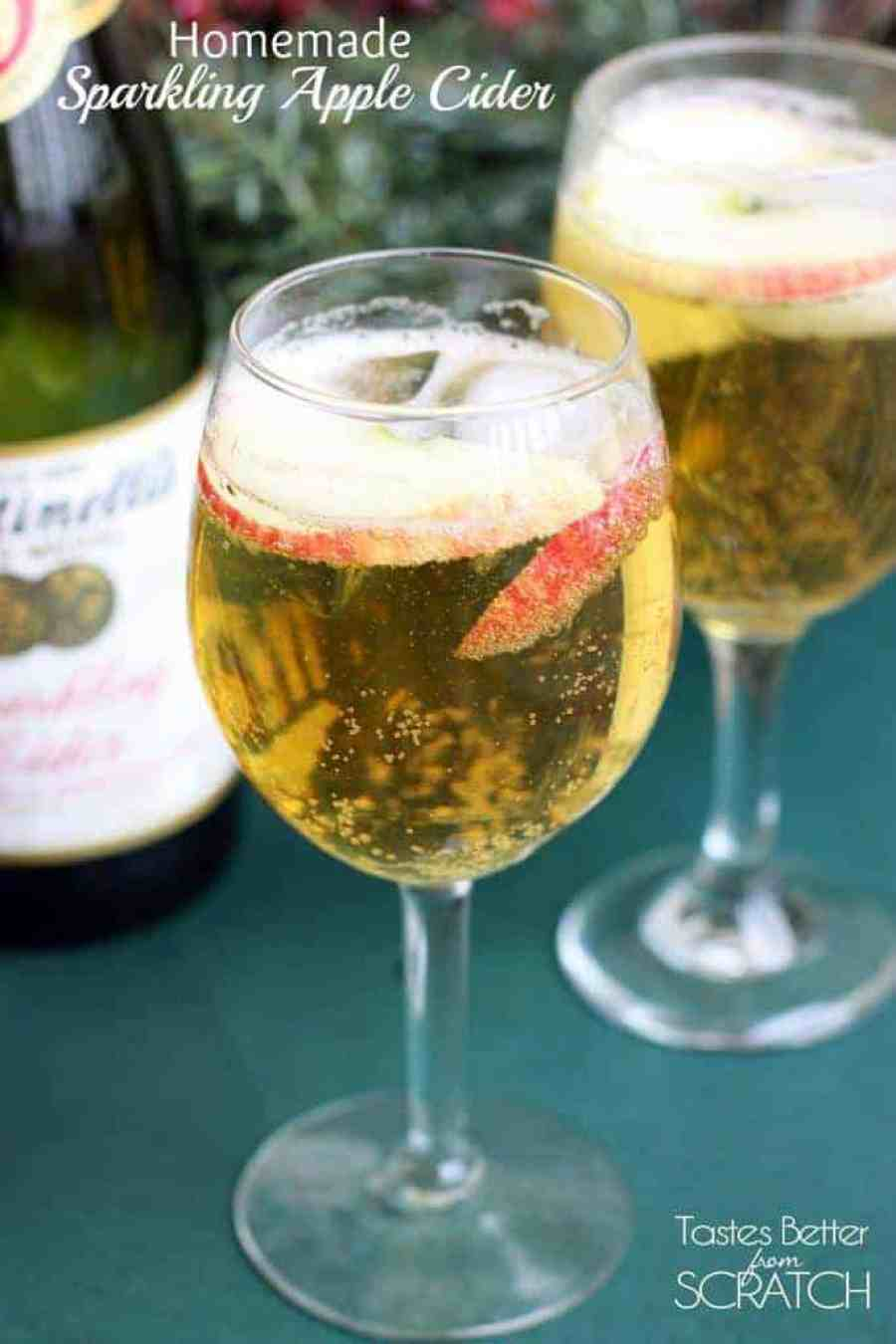 Homemade Sparkling Apple Cider (Martinelli's) recipe on TastesBetterFromScratch.com