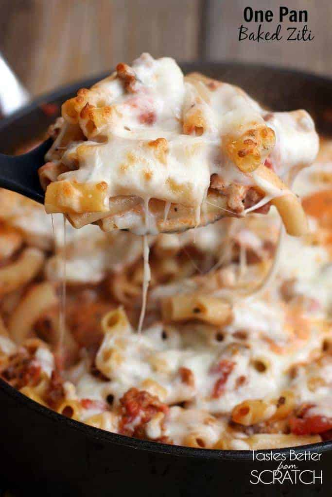 One Pan Baked Ziti Recipe Tastes Better From Scratch