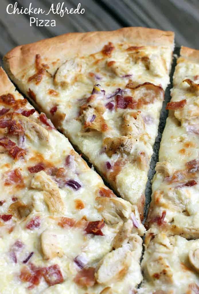 Chicken Alfredo Pizza Recipe From Tastesbetterfromscratch