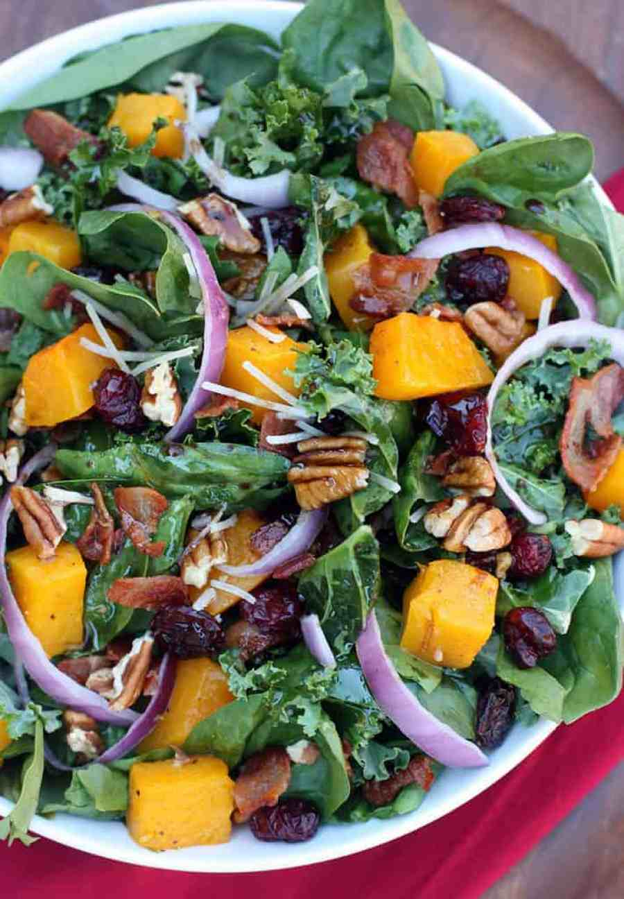 Roasted Butternut Squash Salad recipe from TastesBetterFromScratch.com