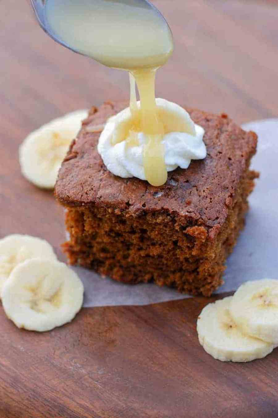 Gingerbread Cake with Vanilla Cream Sauce | Tastes Better From Scratch