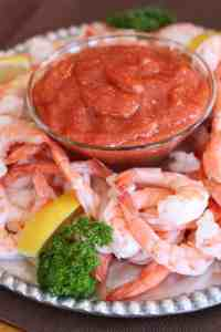 3 ingredient SHRIMP COCKTAIL SAUCE that's easy and amazing homemade. You won't buy it from the store ever again!   Tastes Better From Scratch