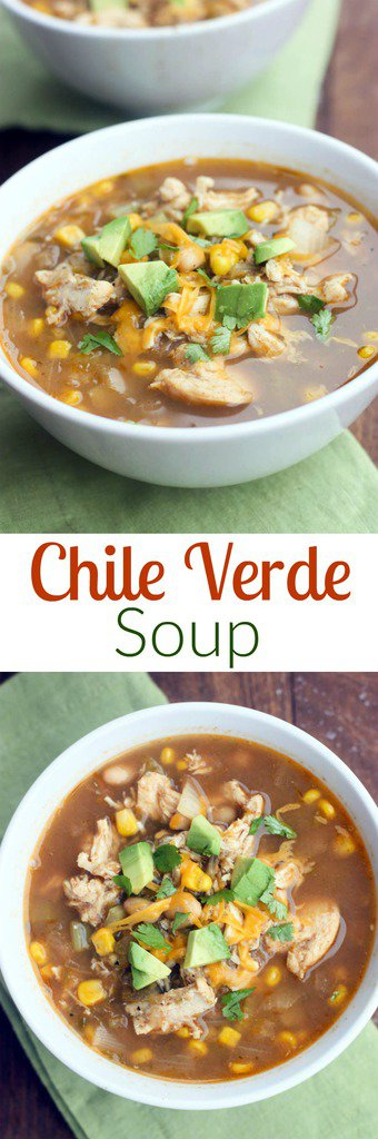 Chile Verde Soup you can make in the slow cooker or on the stove! Such an easy and delicious soup. My family rates it 10/10! | Tastes Better From Scratch