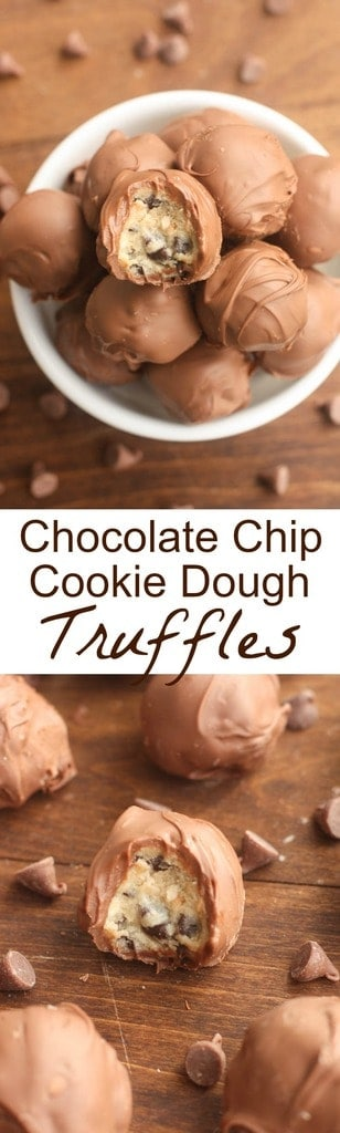 Chocolate Chip Cookie Dough Truffles | - Tastes Better From Scratch