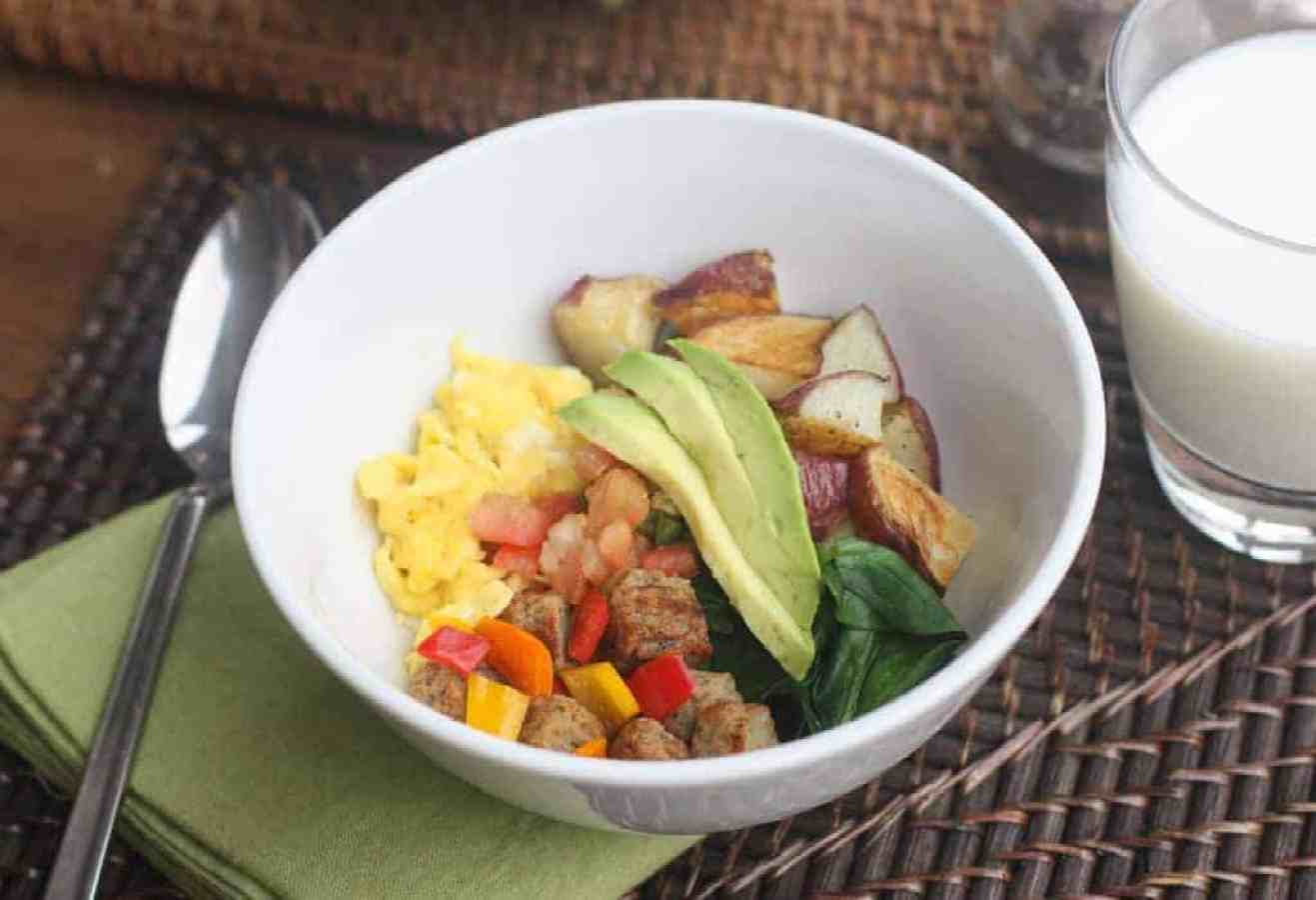 Egg and Sausage Brinner Bowls | Tastes Better From Scratch