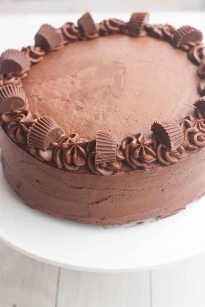 Chocolate Peanut Butter Cake | - Tastes Better From Scratch
