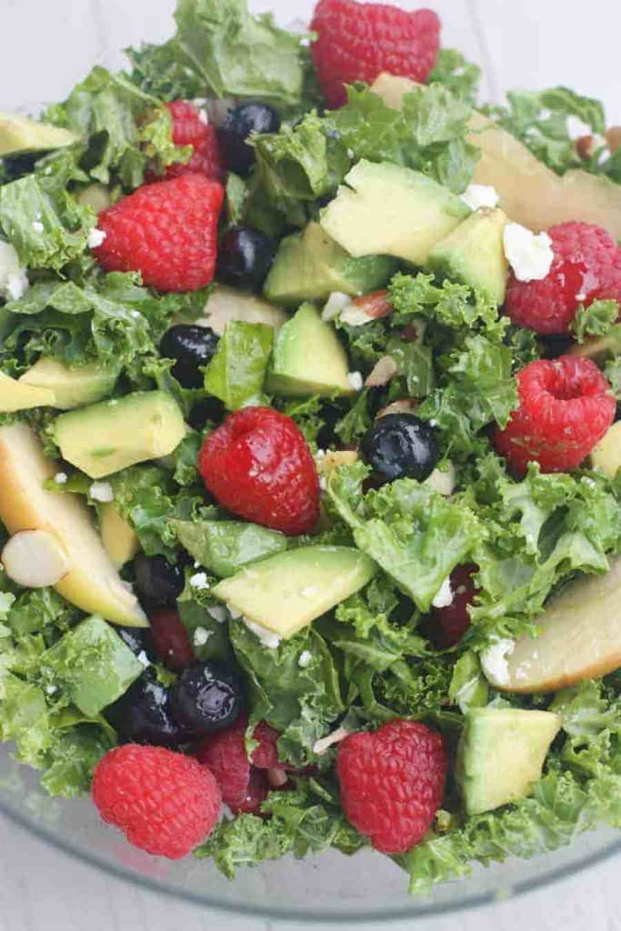 Berry Almond Avocado Salad with Poppyseed Dressing | Tastes Better From Scratch