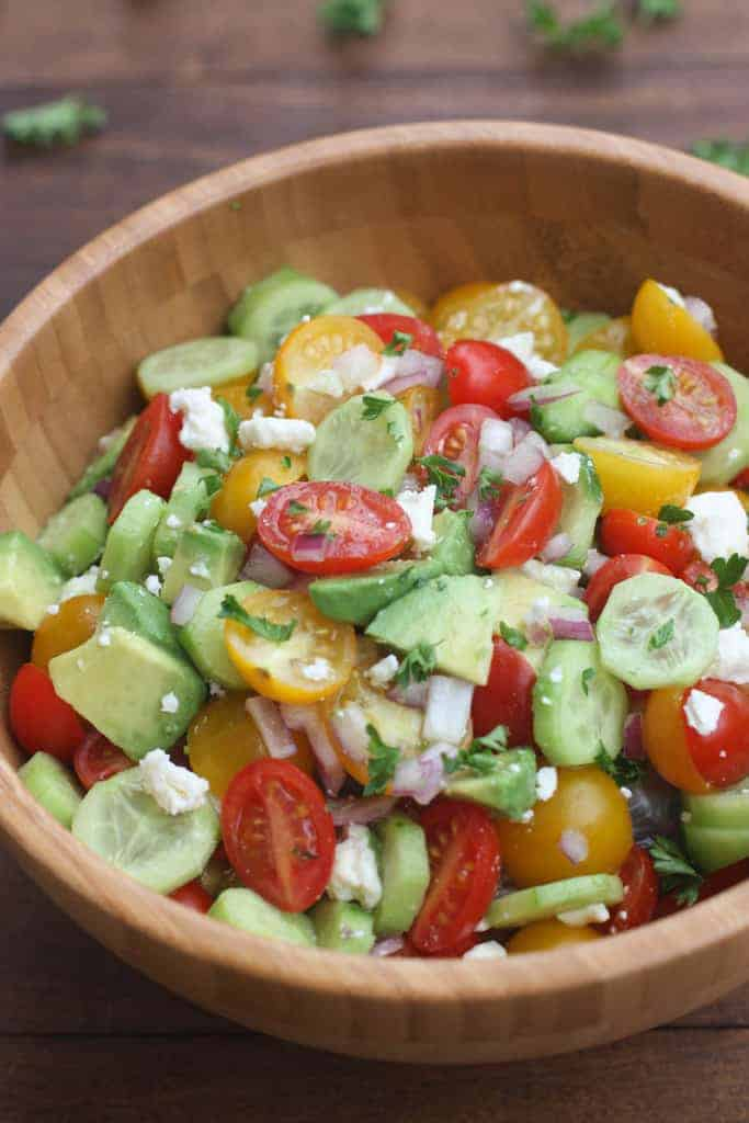 Tomato Cucumber Avocado Salad | - Tastes Better From Scratch