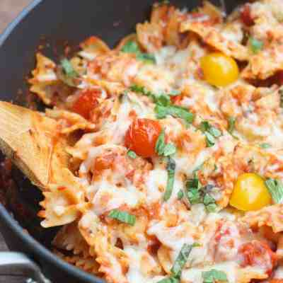 Chicken Mozzarella Pasta with Roasted Tomatoes