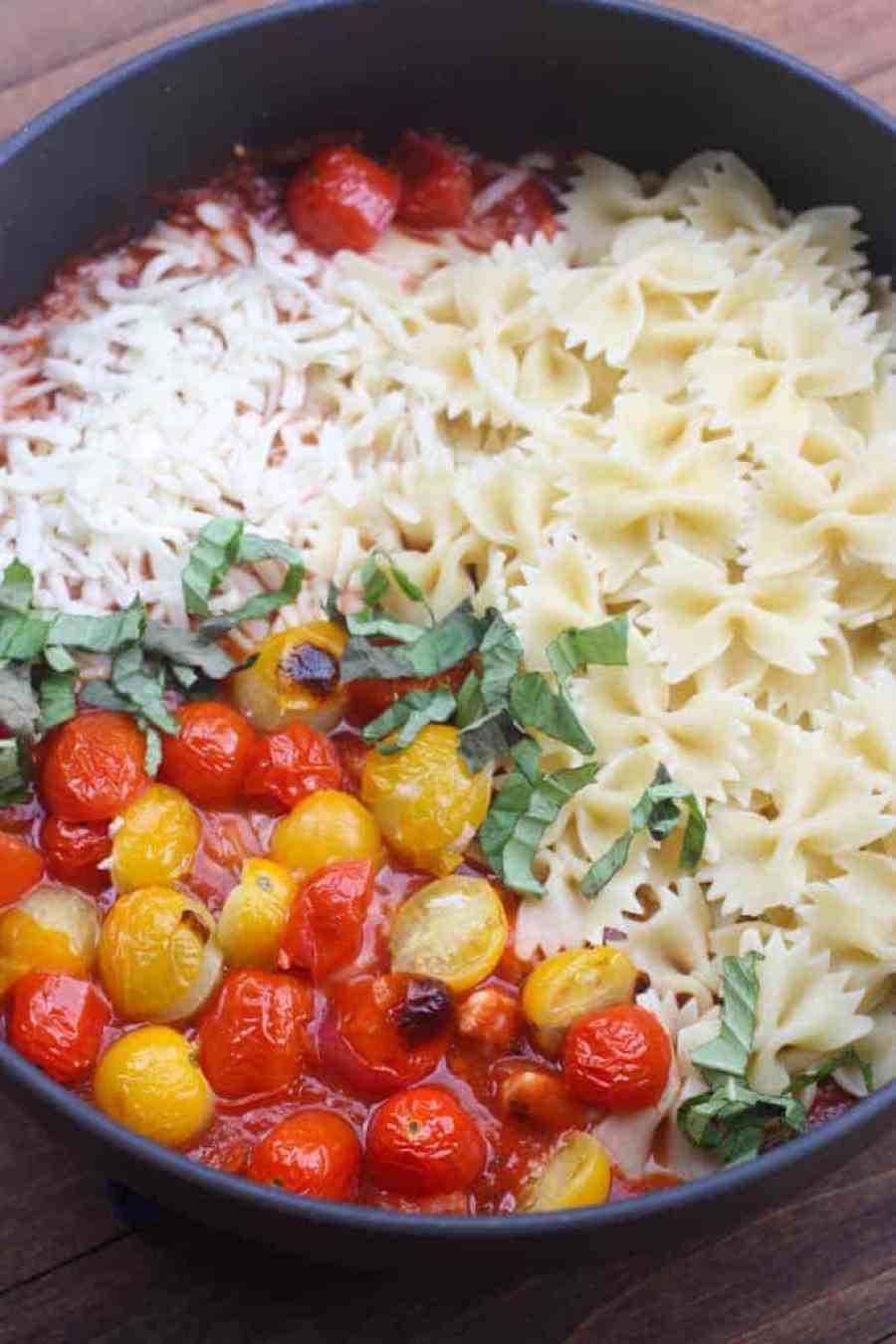 Chicken Mozzarella Pasta with Roasted Tomatoes   Tastes Better From Scratch