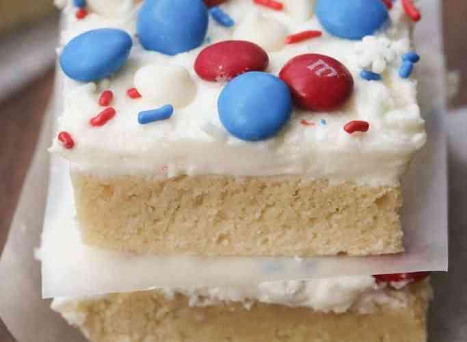 Patriotic Sugar Cookie Bars
