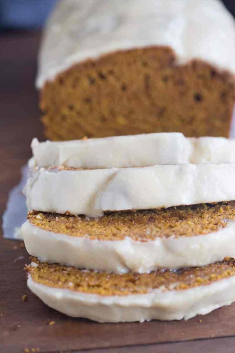 Pumpkin Bread with Brown Butter Maple Glaze | Tastes Better From Scratcj