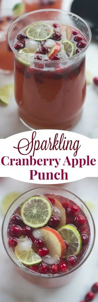 Sparkling Cranberry Apple Punch is the perfect easy holiday drink for a great party! | Tastes Better From Scratch