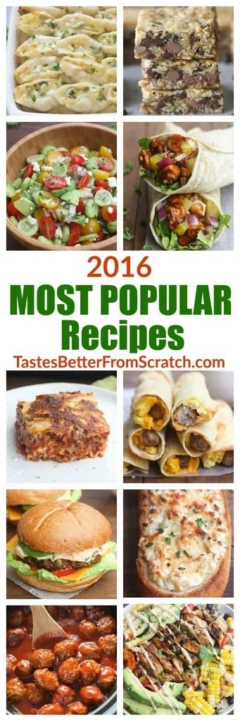 2016 Most Popular Recipes from TastesBetterFromScratch.com