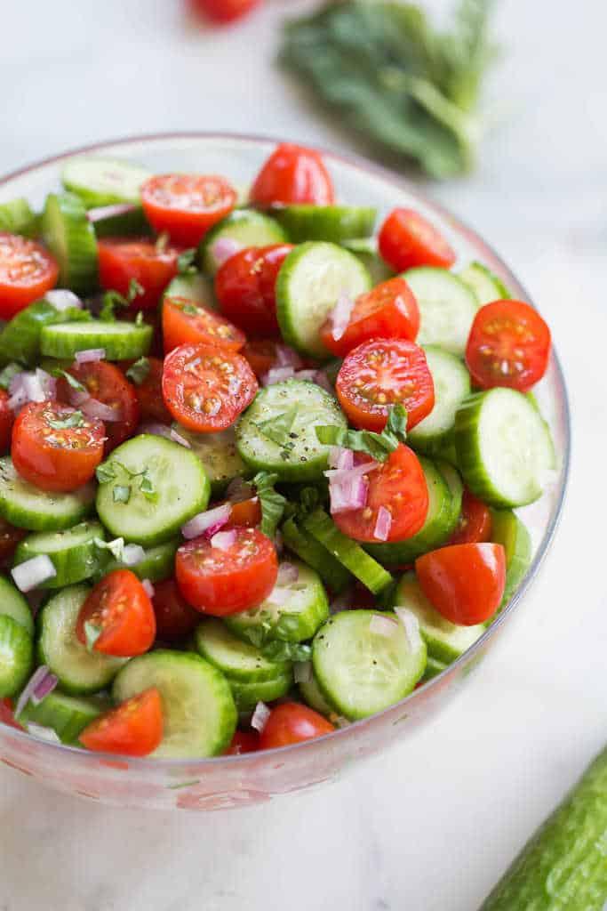 Tomato Cucumber Avocado Salad | tastesbetterfromscratch.com