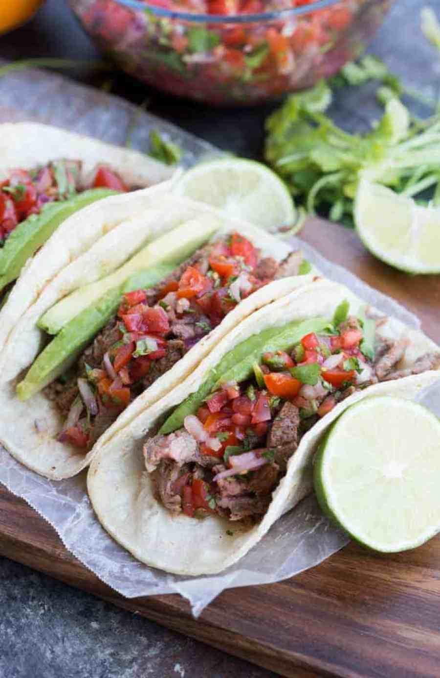Amazing homemade carne asada tacos   tastesbetterfromscratch.com
