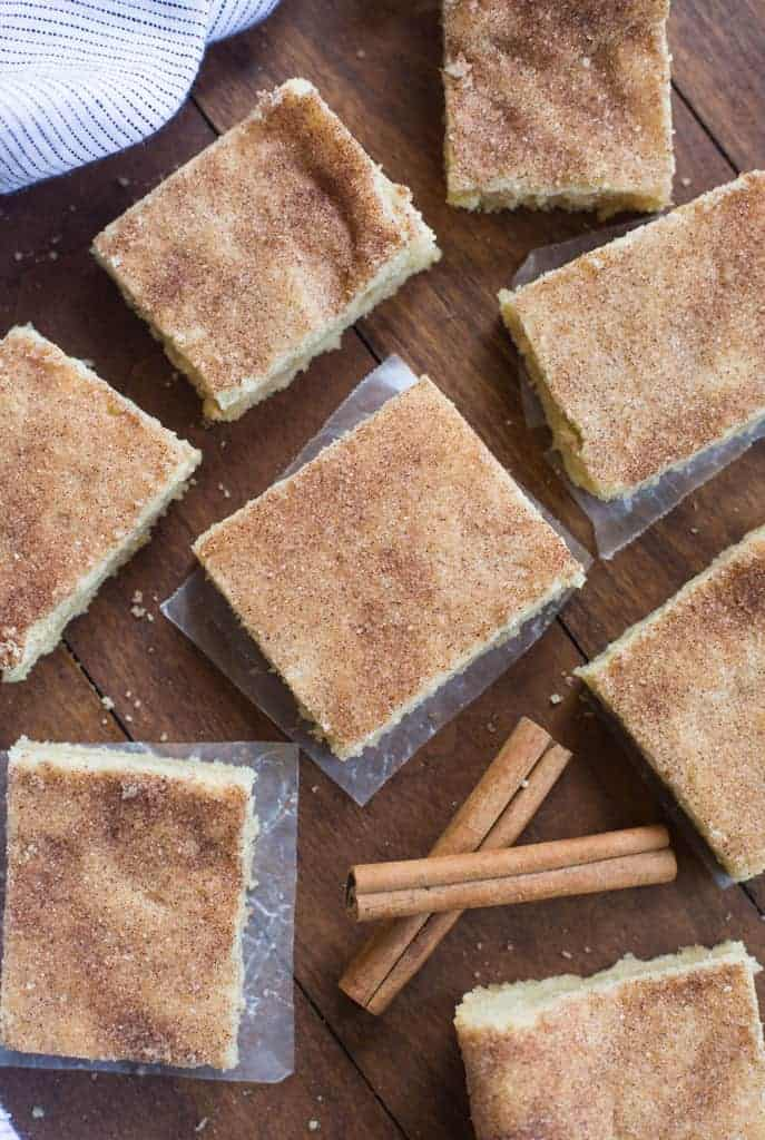 Snickerdoodle Bars | tastesbetterfromscratch.com
