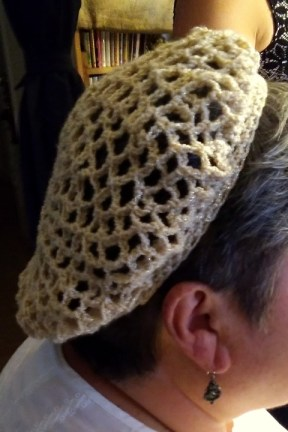 Hand crocheted snood