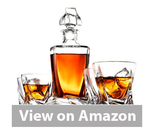 Best Whiskey Decanter - FineDine High-end Modern 5-Piece Decanter Set Review