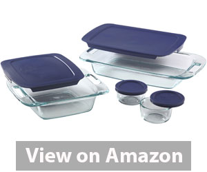 Pyrex Easy Grab 8-Piece Glass Bakeware and Food Storage Set Review