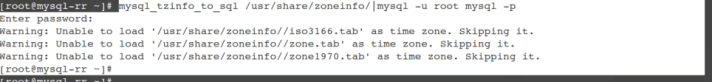 this command will load the timezone into the MySQL Database