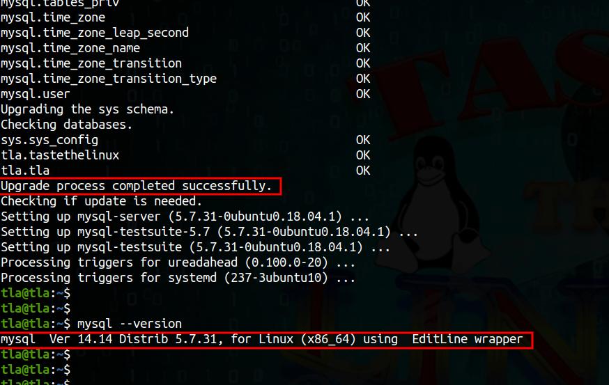 Upgrade MySQL from 5.6 to 5.7