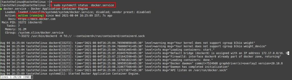 Install Docker on Rocky Linux 8 CentOS