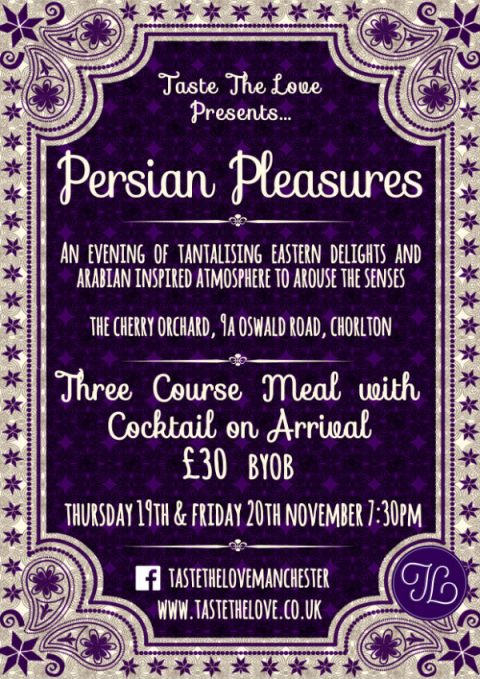 Persian Pleasures Pop Up Restaurant