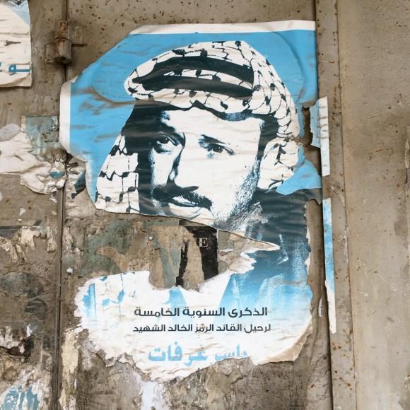 Plakat med den tidligere præsident Arafat