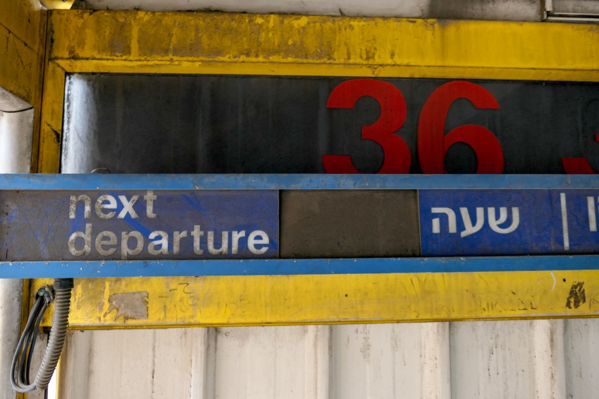 Afgangstavle - Tel Aviv Central Bus Station
