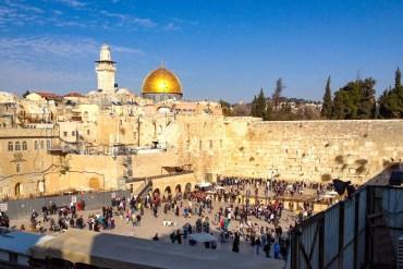 Grædemuren og Al-Aqsa Moskeen, Jerusalm (C) Per Sommer