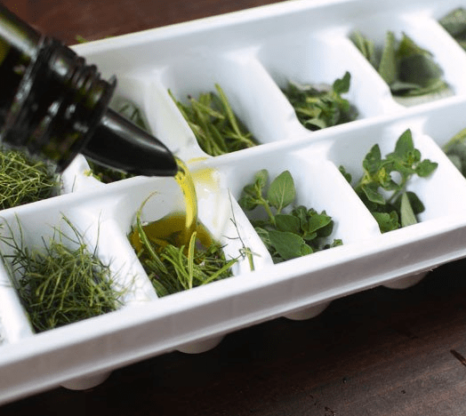 Image result for freezing leftover herbs
