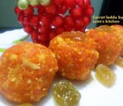 Carrot laddu / halwa