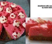 Strawberry jello mousse cake