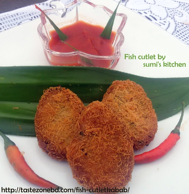 Fish cutlet(macher kabab)