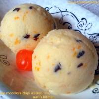 Orange chocolate chips ice cream