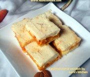Layered carrot Sandesh