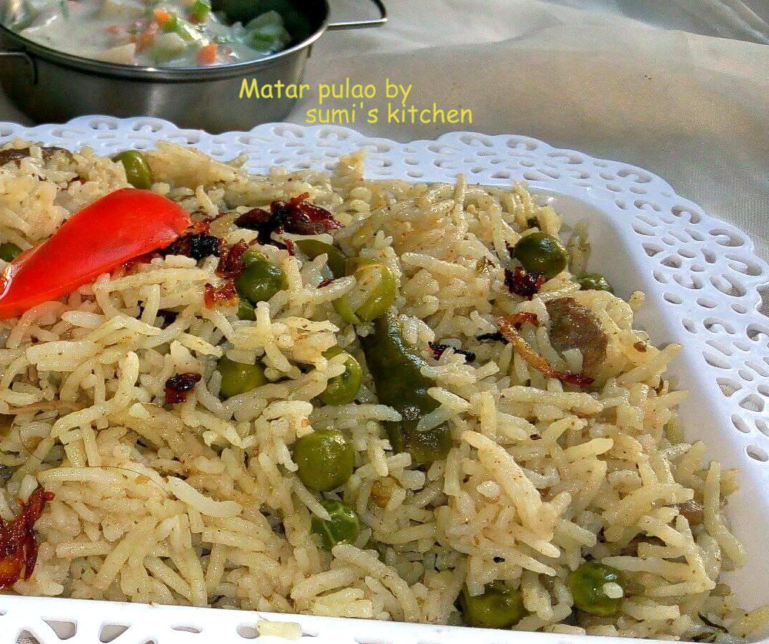Matar pulao (green pea rice)
