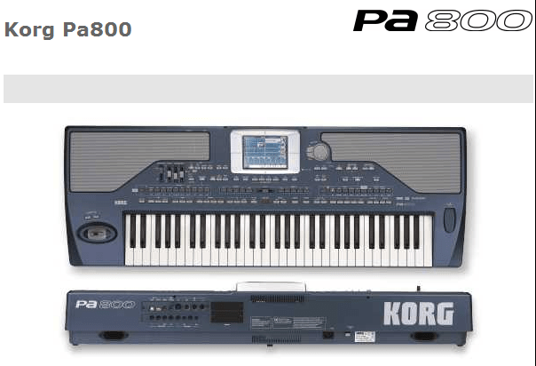 Korg PA800 - Arranger workstation