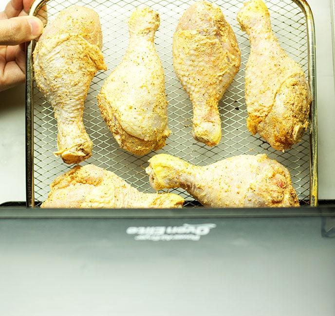 air fryer chicken legs no breading
