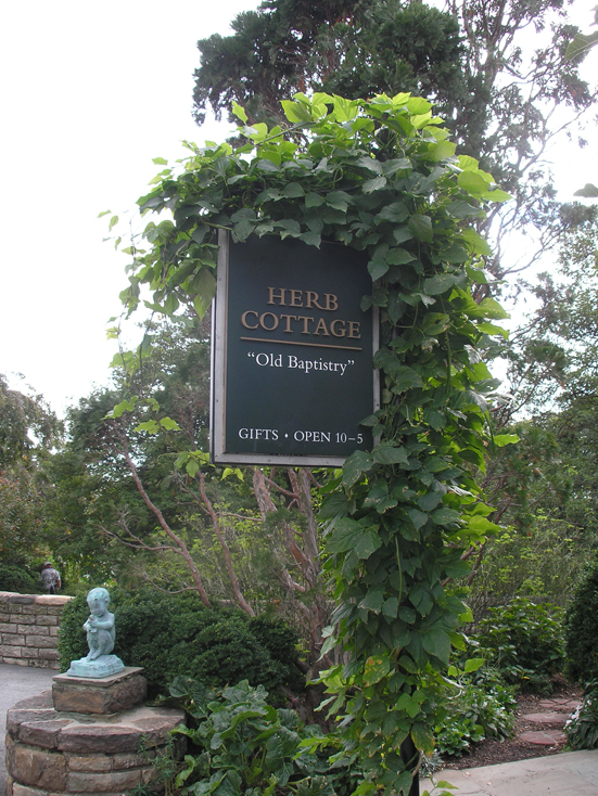 Outside the Herb Cottage