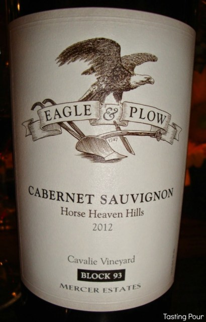 Eagle & Plow Cabernet Sauvignon from Mercer Estates Winery benefiting charities related to 9/11