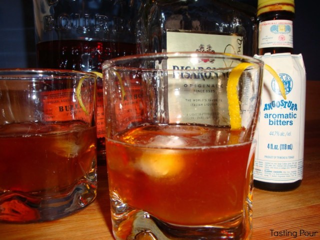 Amaretto, Bourbon, Bitters, Original Cocktail Writer's Block