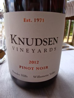 New Knudsen Vineyards Label Launch 2012 Pinot Noir Dundee HIlls