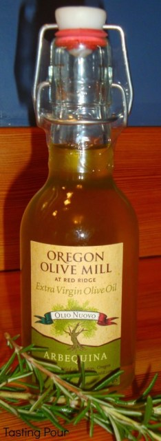 Unfiltered Arbequina Olive Oil from Oregon Olive Mill at Red Ridge Farms